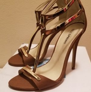 Brown sandal heel